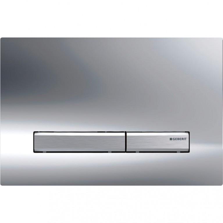 Смывная клавиша Geberit Sigma50 двойной смыв, цвет металлический хромированный и хром глянцевый