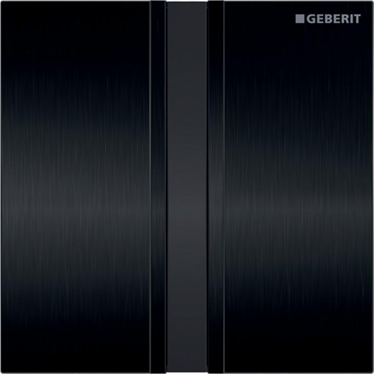 Система электронного управления смывом писсуара Geberit, питание от батарей, крышка type50, хромированная черная