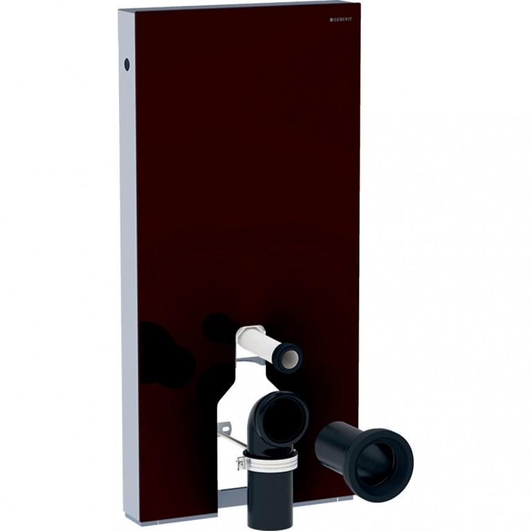 Сантехнический модуль Geberit Monolith для напольного унитаза, 101 см, стекло цвет умбра, алюминий