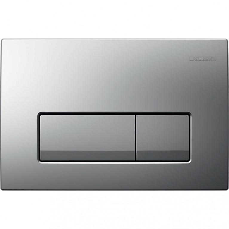 Смывная клавиша Geberit Delta51 двойной смыв, цвет хром матовый