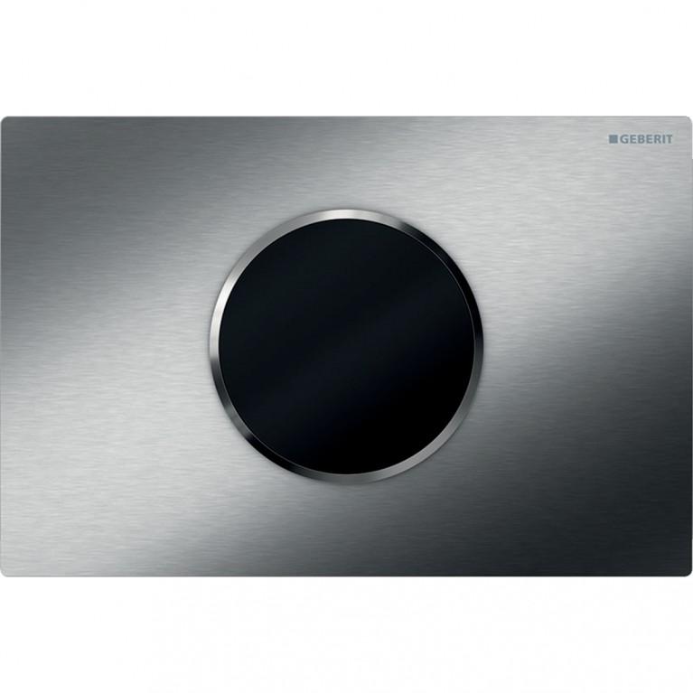 Смывная клавиша бесконтактная Geberit Sigma10, питание от батарей, двойной смыв, нержавеющая сталь