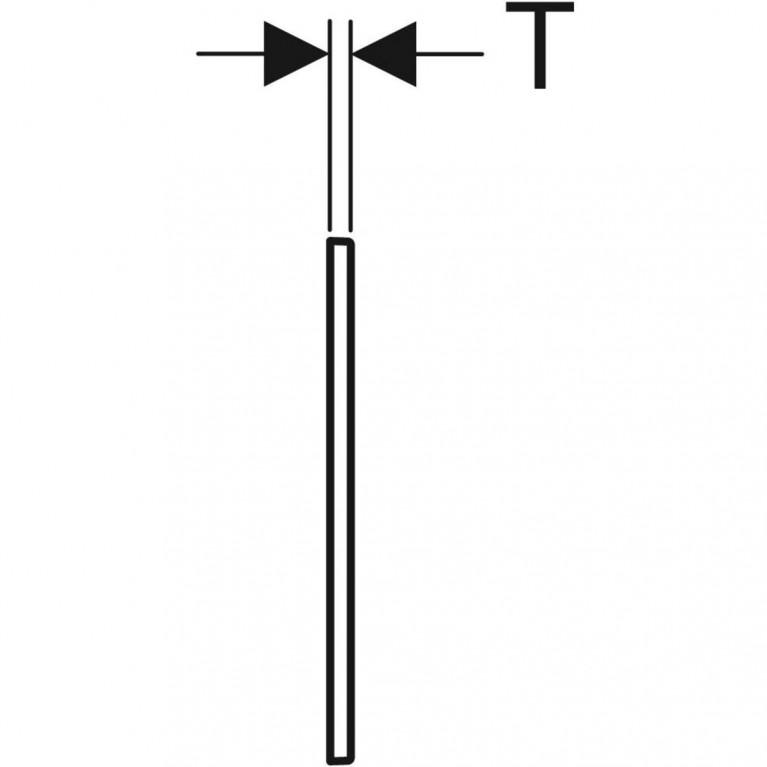 Облицовочная рамка Geberit для смывной клавиши Omega 60, хром глянцевый 115.086.21.1, фото 3