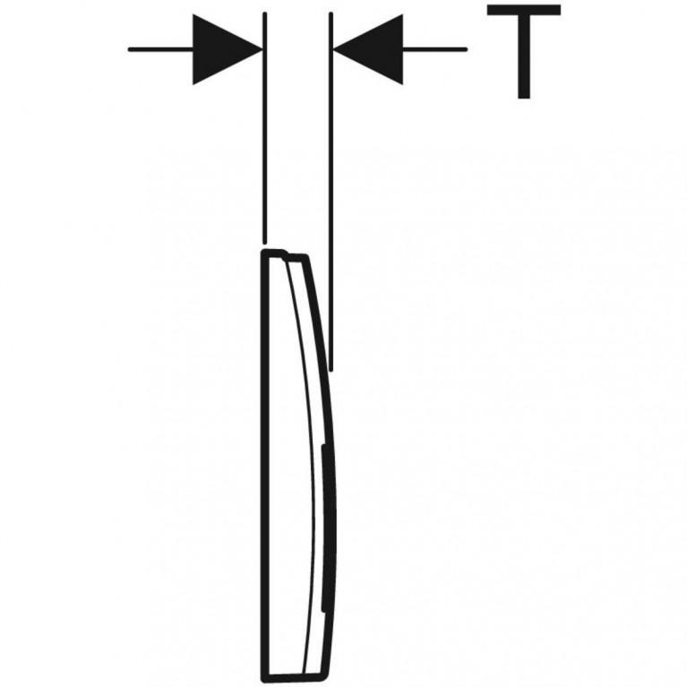 Смывная клавиша Geberit Delta50 двойной смыв, цвет хром матовый 115.135.46.1, фото 2