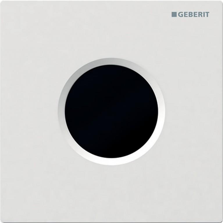 Система электронного управления смывом писсуара Geberit, питание от батарей, защитная крышка тип 01, белый цвет