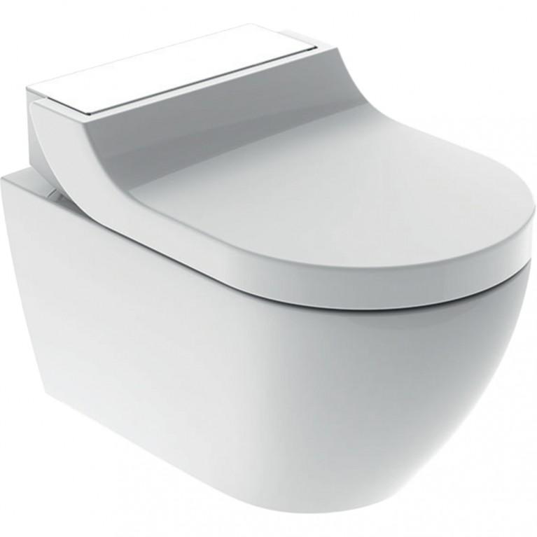 Подвесной унитаз-биде Geberit AquaClean Tuma Comfort белое стекло
