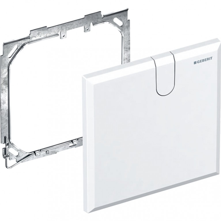 Защитная крышка Geberit для скрытого функционального блока смесителей для умывальников, цвет белый, фото 1
