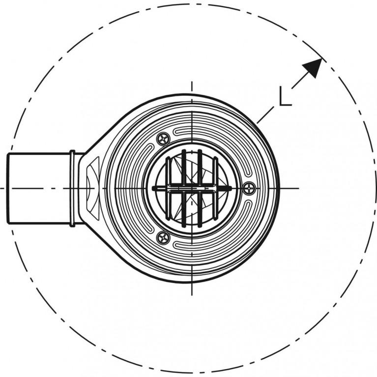 Сифон для душевых поддонов Geberit d 90, высота гидрозатвора 50 мм 150.550.00.1, фото 3