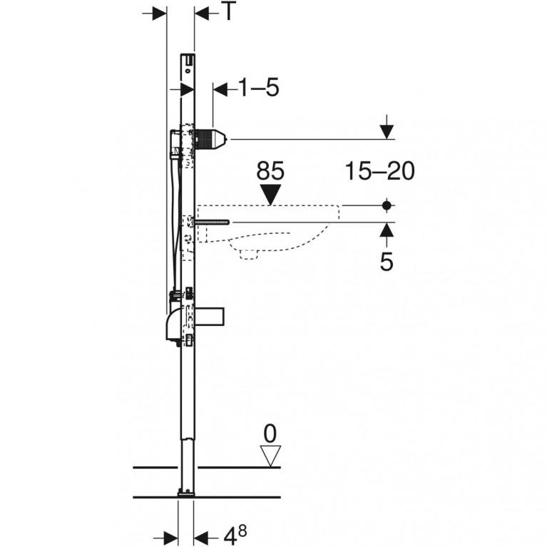 Монтажный элемент Geberit Duofix для умывальников с функциональным блоком скрытого монтажа, высота 130 см 111.560.00.1, фото 4