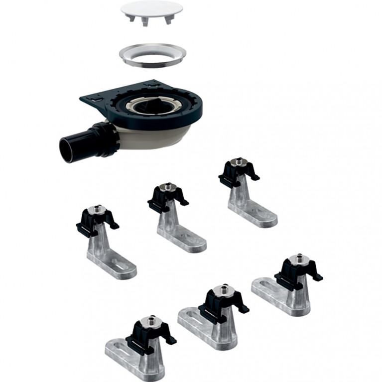 Сифон для душевого поддона Geberit с шестью ножками, для душевого поддона Setaplano, высота гидрозатвора 30 мм
