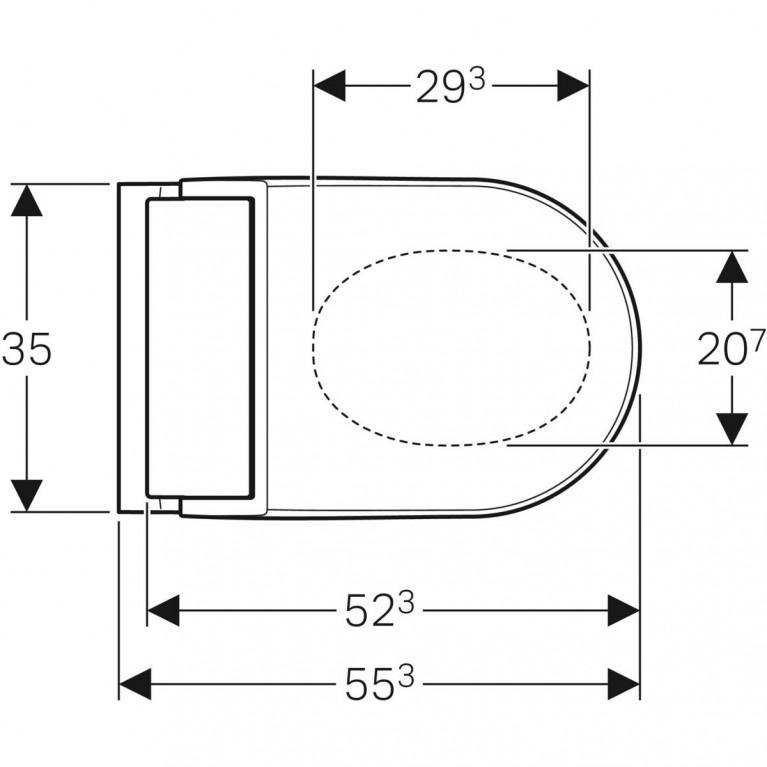 Подвесной унитаз-биде Geberit AquaClean Tuma Comfort белое стекло 146.294.SI.1, фото 4