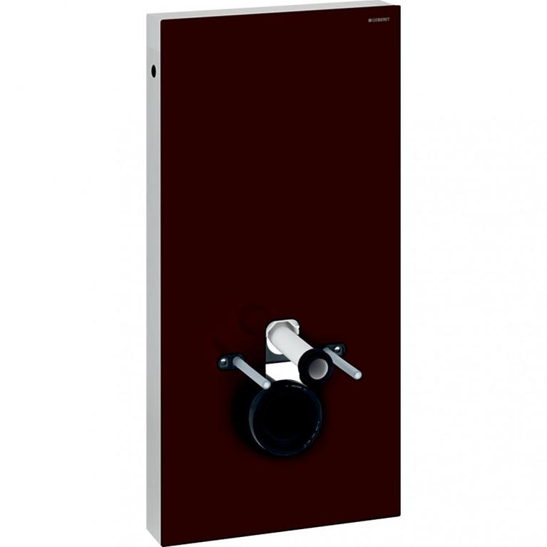 Сантехнический модуль Geberit Monolith для подвесного унитаза, 101 см, стекло цвета умбра и алюминий