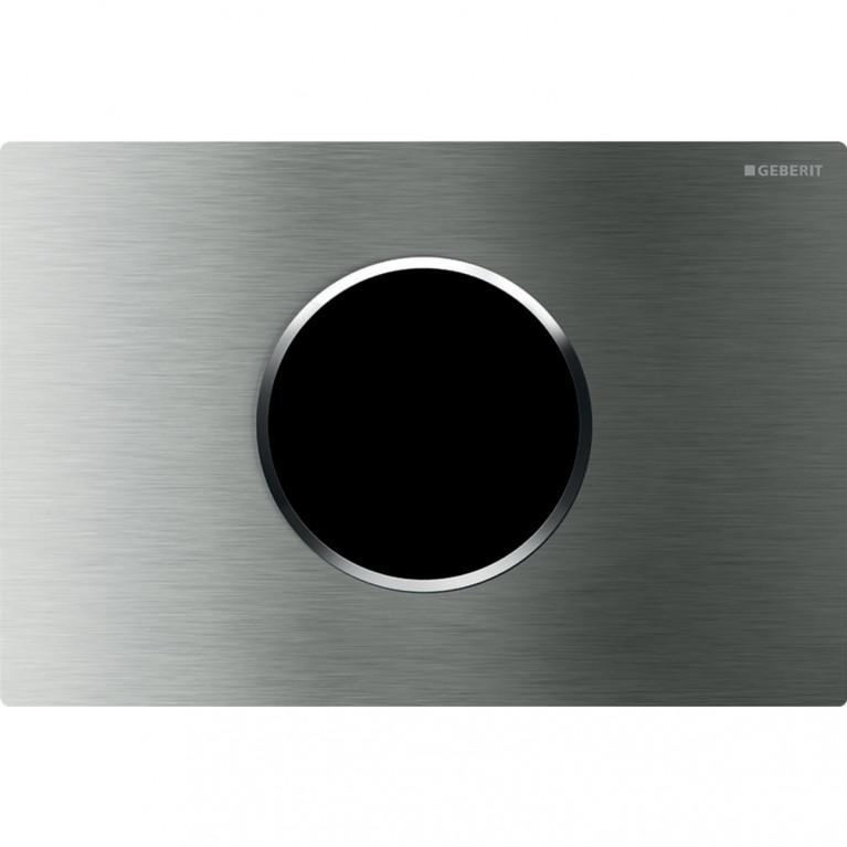 Смывная клавиша бесконтактная Geberit Sigma10, электронное управление, нержавеющая сталь полированная