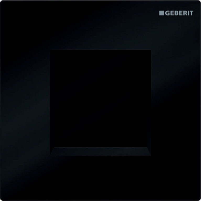 Система электронного управления смывом писсуара Geberit, питание от батарей, крышка type30, черная RAL 9005