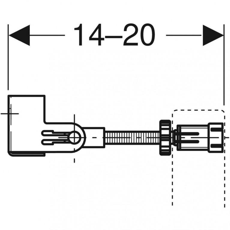 Комплект крепления к стене Geberit Duofix угловой 111.835.00.1, фото 3