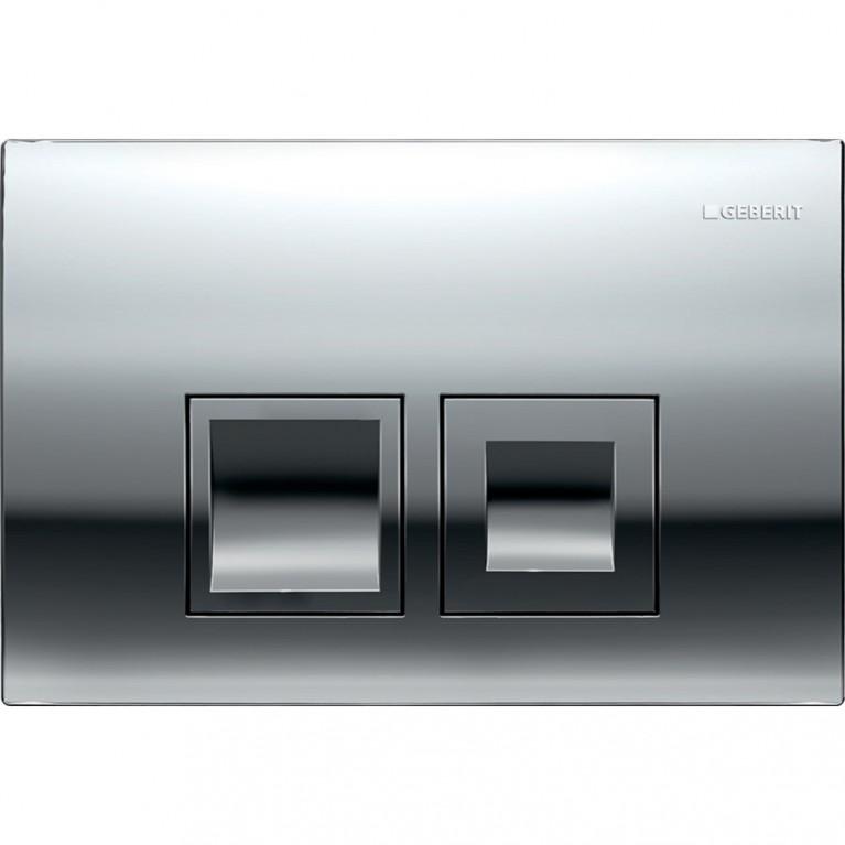 Смывная клавиша Geberit Delta50 двойной смыв, цвет хром глянцевый