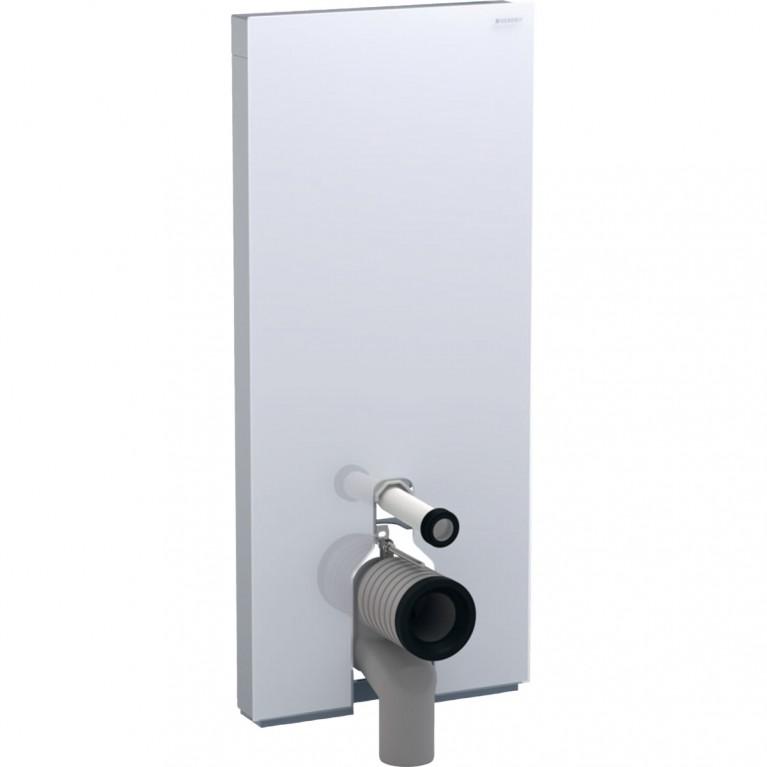 Сантехнический модуль Geberit Monolith Plus для напольного унитаза, 114 см, стекло белое, алюминий