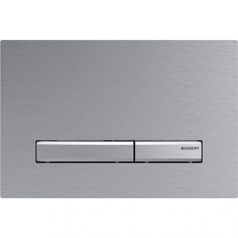 Смывная клавиша Geberit Sigma50 двойной смыв, металл хромированный с легкоочищаемой поверхностью
