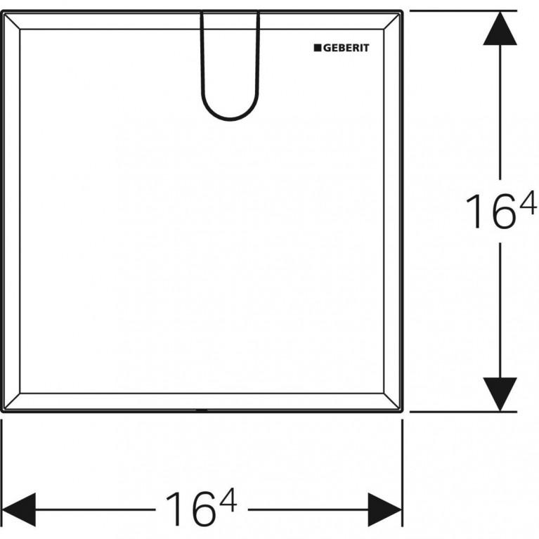 Защитная крышка Geberit для скрытого функционального блока смесителей для умывальников, цвет белый 116.425.11.1, фото 3