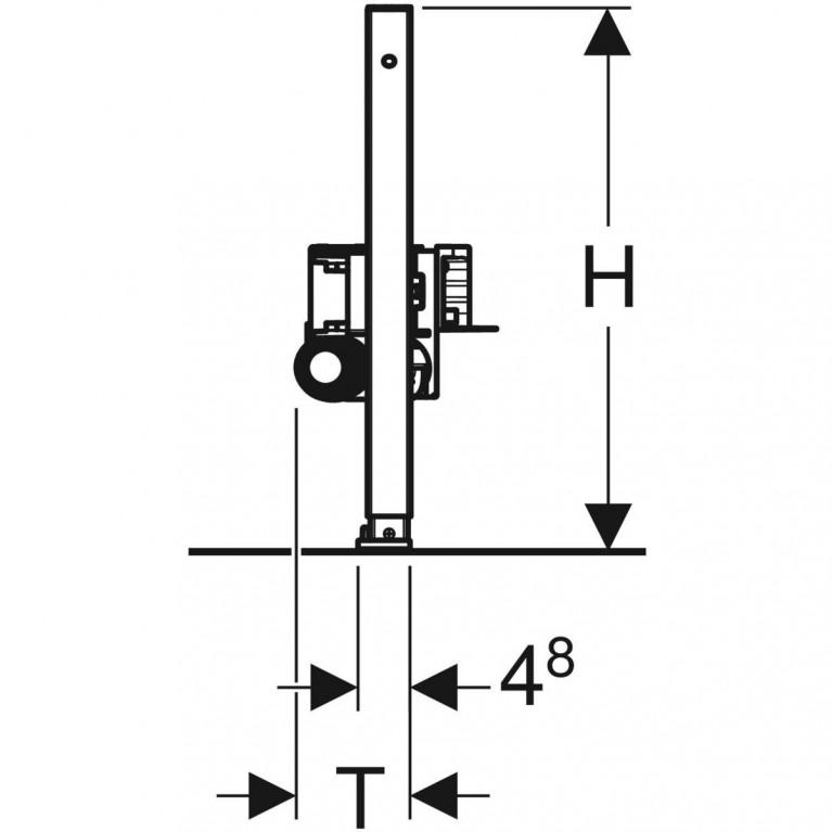 Монтажный элемент Geberit Duofix для душевых систем, высота стяжки 65–90 мм, выпуск DN 40 111.593.00.1, фото 5