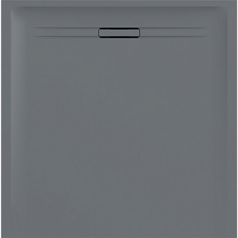 Квадратный душевой поддон Geberit Sestra, 90x90 см серого цвета