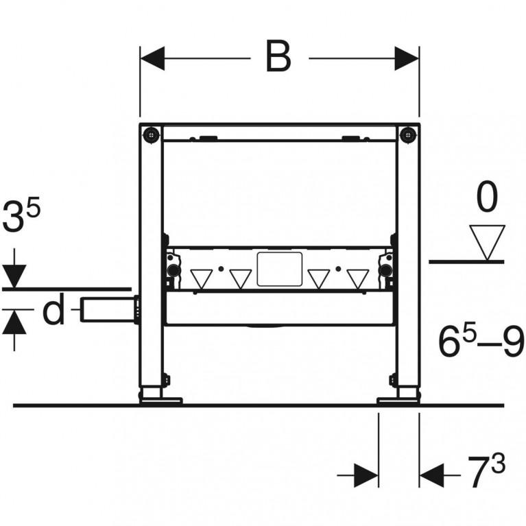 Монтажный элемент Geberit Duofix для душевых систем, высота стяжки 65–90 мм, выпуск DN 40 111.593.00.1, фото 4