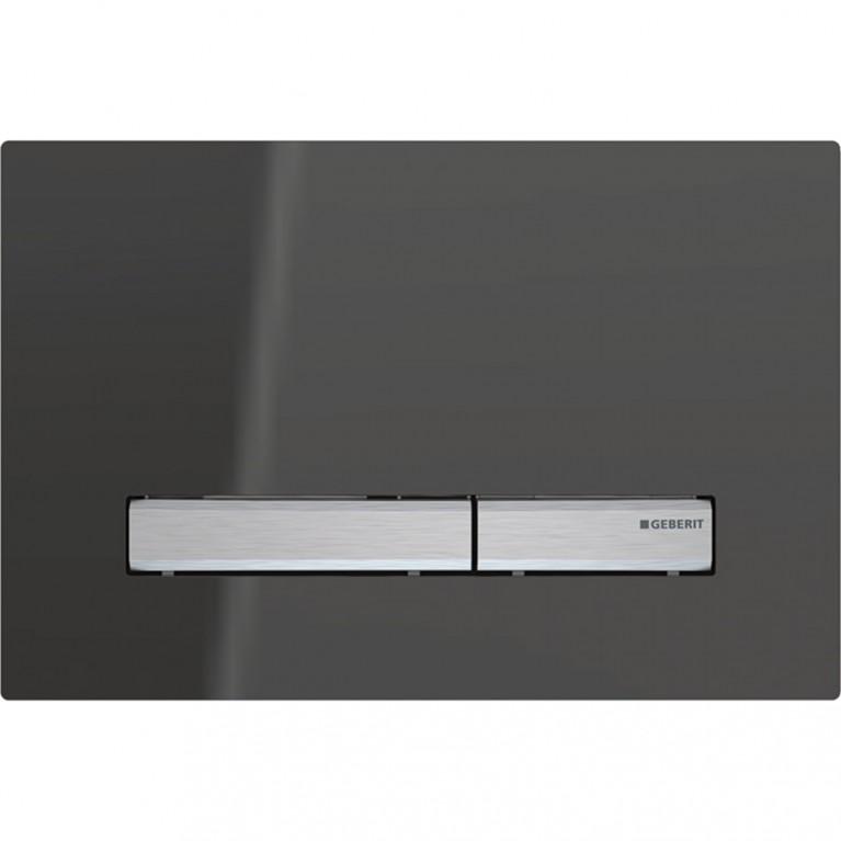 Смывная клавиша Geberit Sigma50 двойной смыв, металл хромированный и зеркальное дымчатое стекло