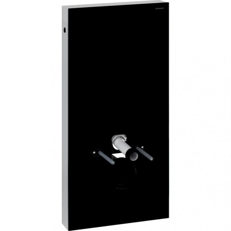 Сантехнический модуль Geberit Monolith для подвесного унитаза, 101 см, черное стекло и черный алюминий хром