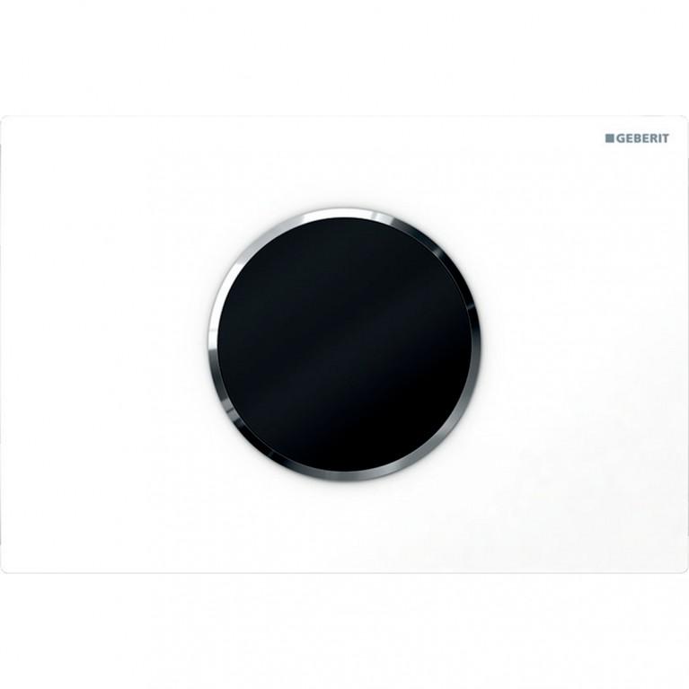 Смывная клавиша бесконтактная Geberit Sigma10, питание от батарей, двойной смыв, цвет белый и хром глянец