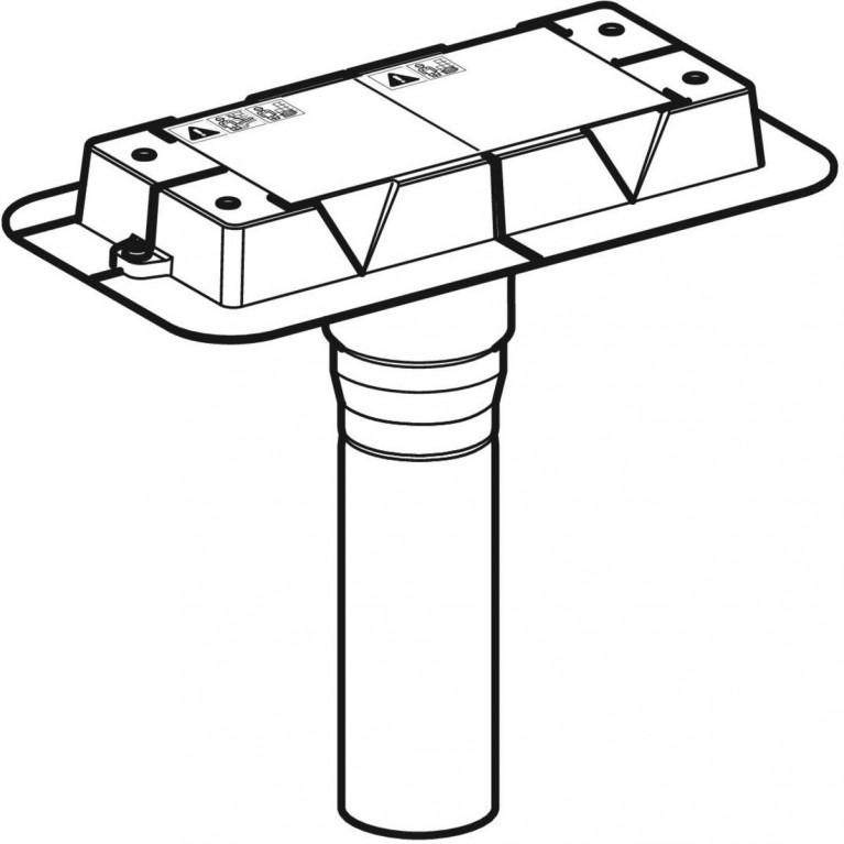 Монтажный комплект Geberit CleanLine, для дренажных каналов CleanLine без сифона, монтаж через перекрытие 154.153.00.1, фото 3