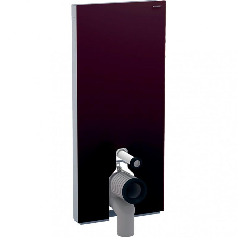Сантехнический модуль Geberit Monolith Plus для напольного унитаза с сенсорным управлением, 114 см, стекло умбра и алюминий
