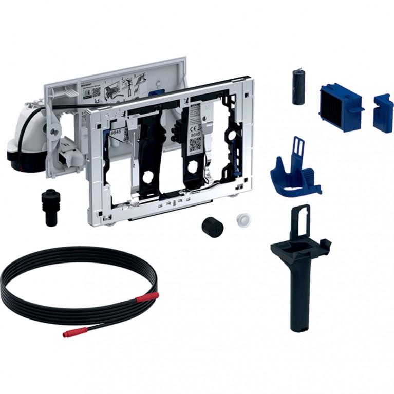 Модуль Geberit DuoFresh автоматический, приемник цилиндриков, Sigma 8 см, цвет глянцевый хром