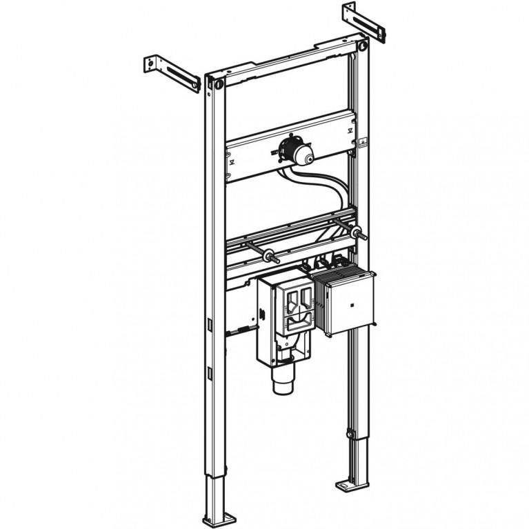 Монтажный элемент для умывальника Geberit Duofix H130 см с функциональным блоком для электронного смесителя и сифоном  111.562.00.1, фото 2