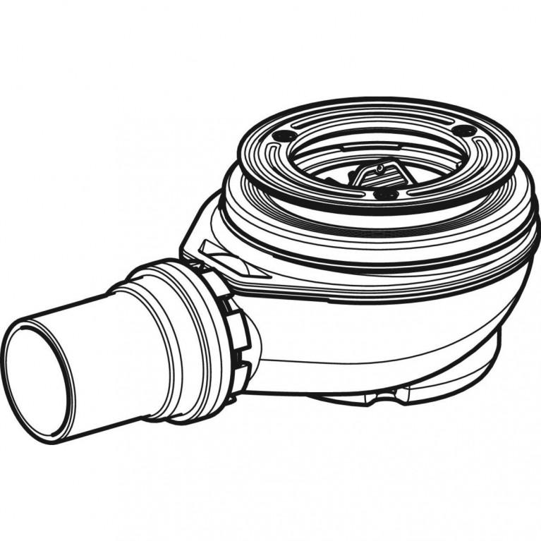Сифон для душевых поддонов Geberit d 90, высота гидрозатвора 50 мм 150.550.00.1, фото 4