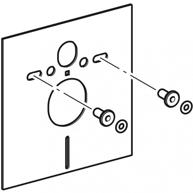 Звукоизолирующий комплект Geberit для подвесного унитаза 156.050.00.1, фото 3