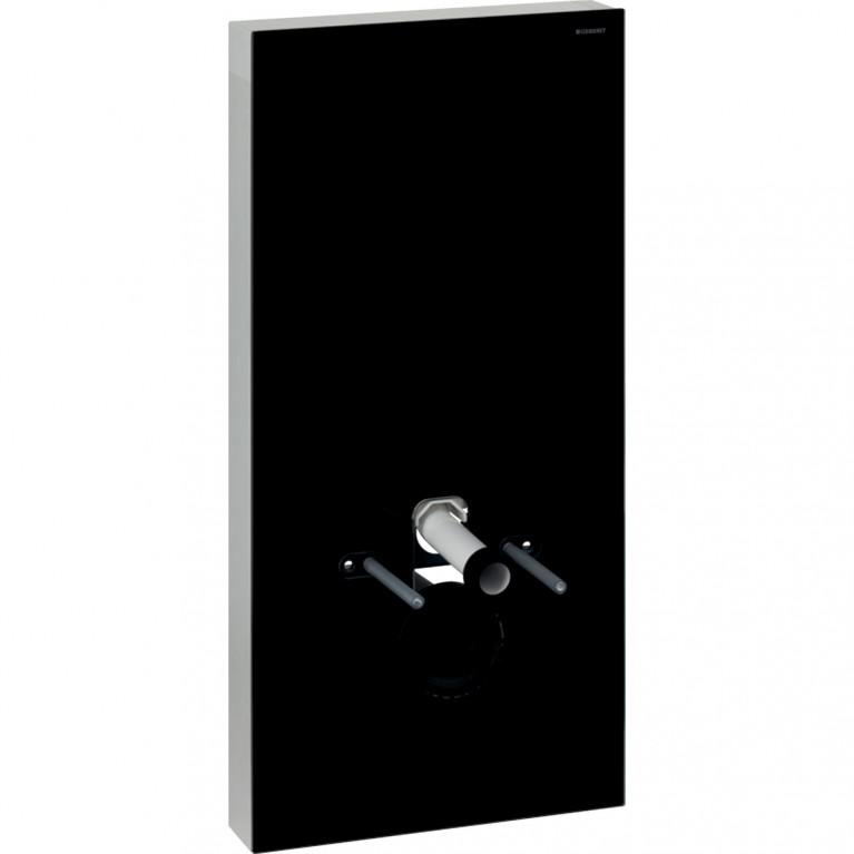 Сантехнический модуль Geberit Monolith Plus для подвесного унитаза, 101 см, черное стекло и алюминий