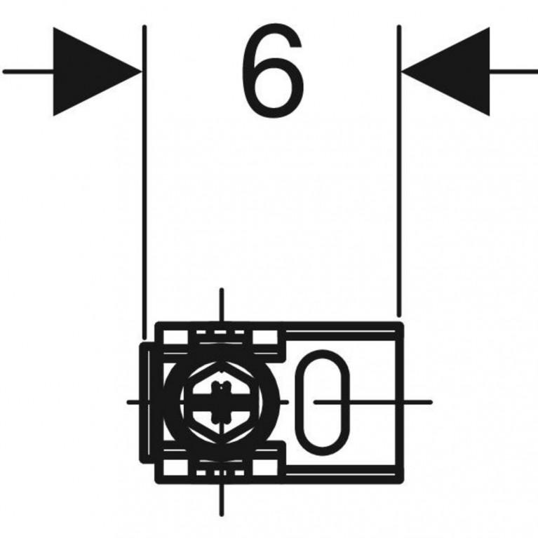 Комплект крепления к стене Geberit Duofix угловой 111.835.00.1, фото 2