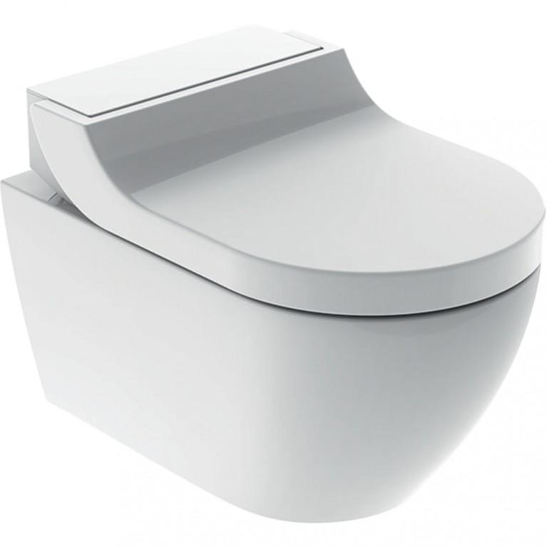 Подвесной унитаз-биде Geberit AquaClean Tuma Comfort белое стекло 146.294.SI.1, фото 2