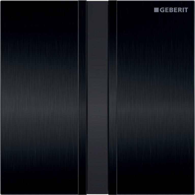 Система электронного управления смывом писсуара Geberit, питание от сети, защитная крышка тип 50, хром черный