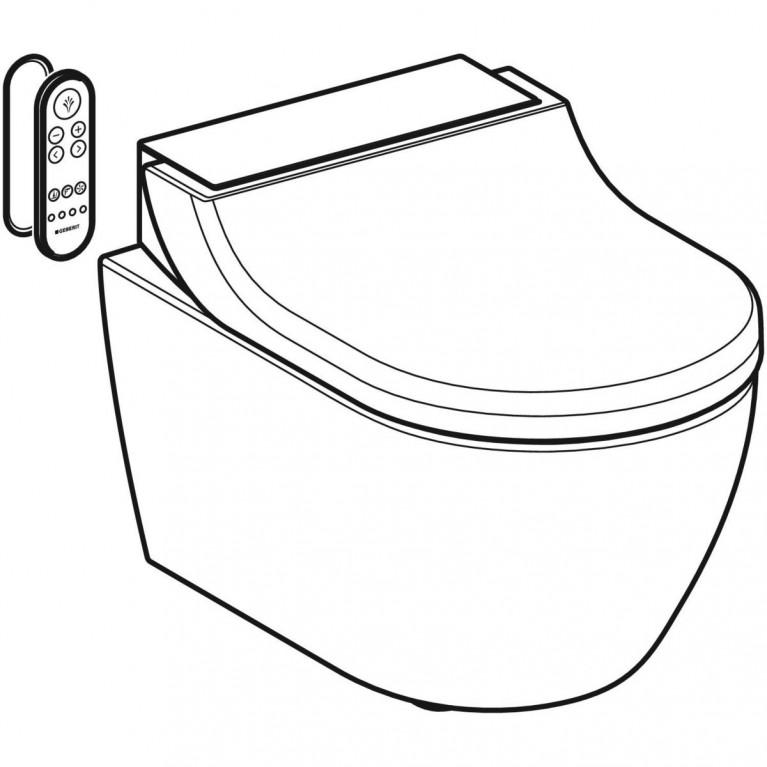 Подвесной унитаз-биде Geberit AquaClean Tuma Comfort белое стекло 146.294.SI.1, фото 5