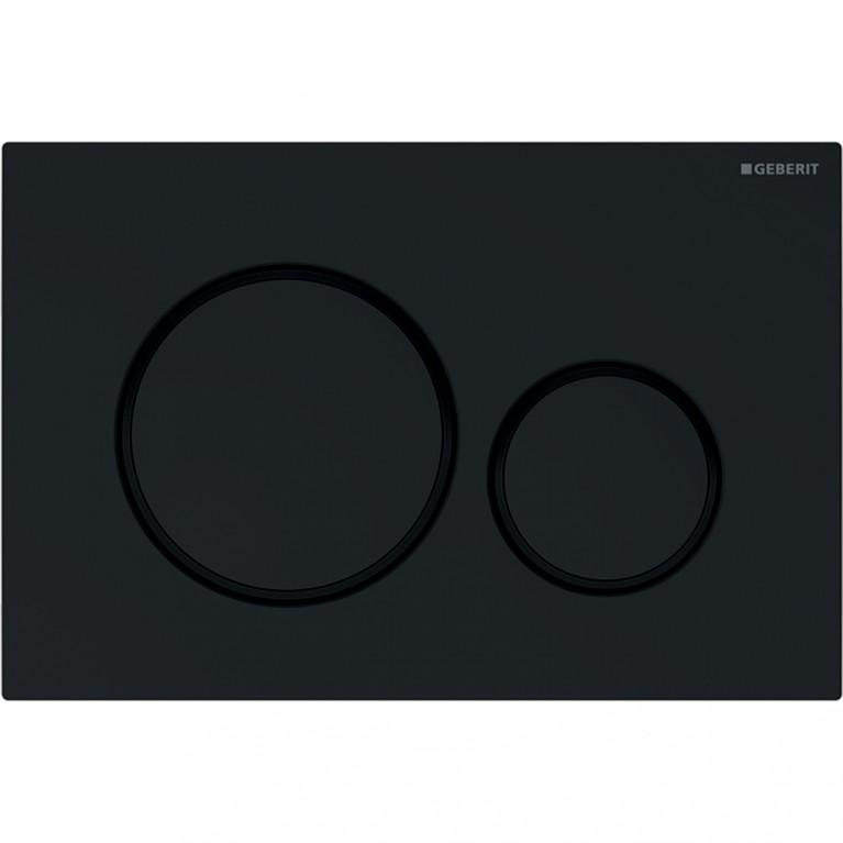 Смывная клавиша Geberit Sigma20 двойной смыв, черный и черный матовый