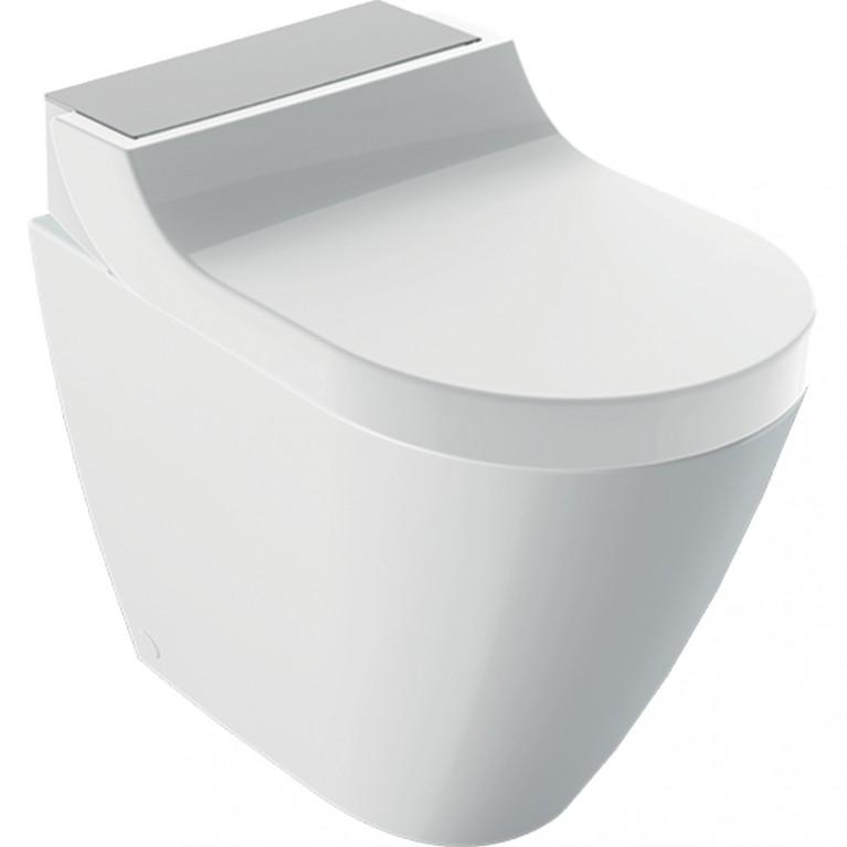 Напольный унитаз-биде Geberit AquaClean Tuma Comfort нержавеющая сталь матированная