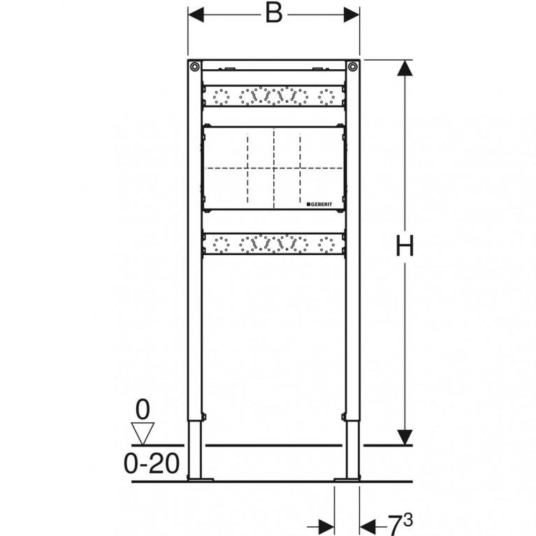 Монтажный элемент Geberit Duofix для душа и ванны, 98–112 см, встраиваемый в стену смеситель 111.780.00.1, фото 3