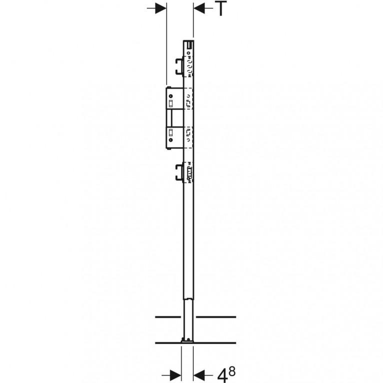 Монтажный элемент Geberit Duofix для душа и ванны, 98–112 см, встраиваемый в стену смеситель 111.780.00.1, фото 2