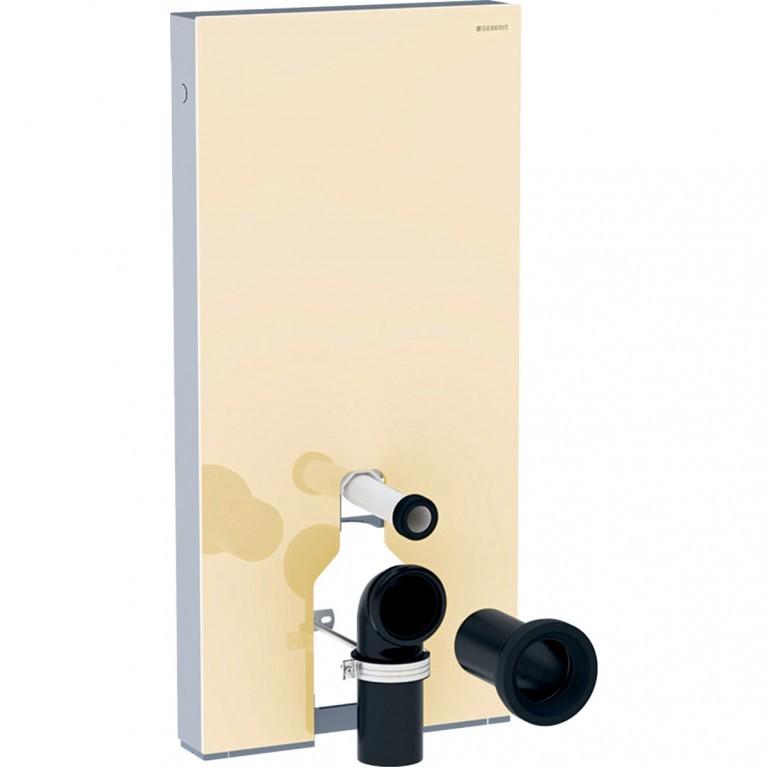 Сантехнический модуль Geberit Monolith Plus для напольного унитаза, 101 см, стекло песочно-серое, алюминий