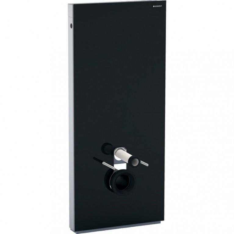 Сантехнический модуль Geberit Monolith для подвесного унитаза, 114 см, черное стекло, черный алюминий хром.