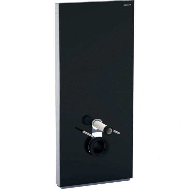 Сантехнический модуль Geberit Monolith Plus для подвесного унитаза, 114 см, стекло черное, алюминий черный хром.