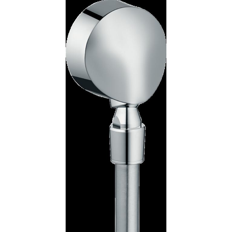 27505000 HG Fixfit E Шланговое подсоединение с клапаном (хром), фото 1