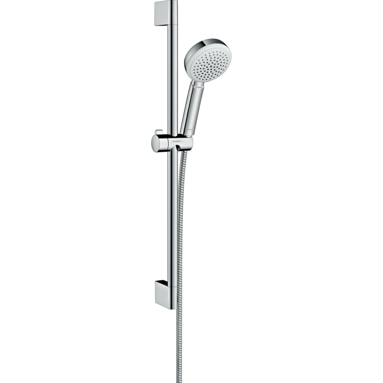 Crometta 100 1jet Душевой набор со штангой 65 см, белый / хром, фото 1