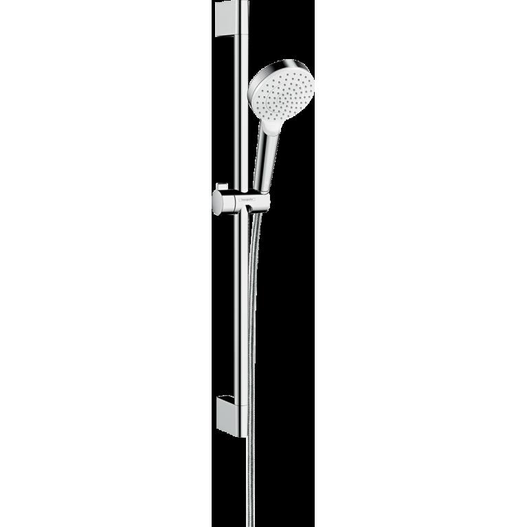 Crometta 1jet Душевой набор, штанга 65 см белый/хром, фото 1