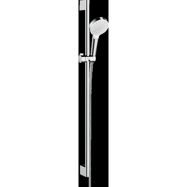 Crometta Душевой набор 1jet, штанга 90 см, белый/хром, фото 1